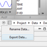 Export Data to Workspace