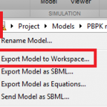 Export Model to Workspace